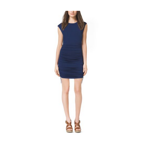 MICHAEL MICHAEL KORS Ruched Jersey Dress PRUSSIAN BLUE